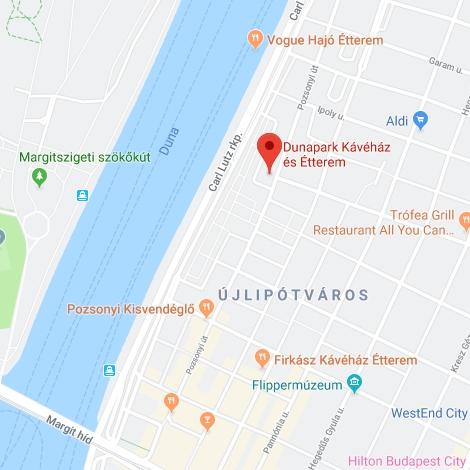 Dunapark kávéház - térképen